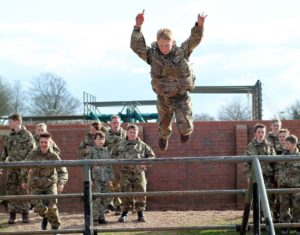 cadet-leaping
